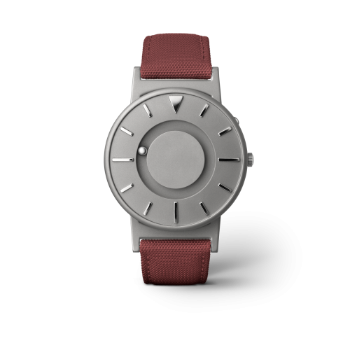 """Unisex Eone The Bradley Canvas Crimson Red Strap Titanium Watch BR-C-RED """