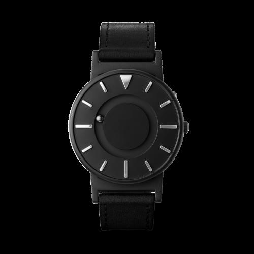 Unisex Eone Bradley X Deezen Black Leather Watch BR-DZ