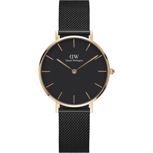 Daniel Wellington Ladies Black Classic Petite Ashfield Watch DW00100201