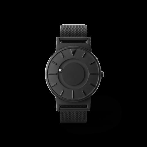 Unisex Eone The Bradley Mesh Black Titanium Watch BR-BLK