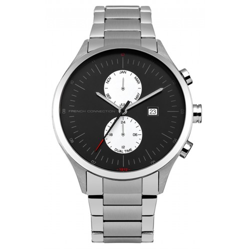 French Connection Mens Kensington Grand Stainless Steel Silver Watch FC1266BSM