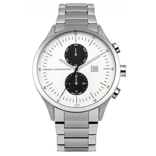 French Connection Mens Stainless Steel Silver Watch FC1266SM