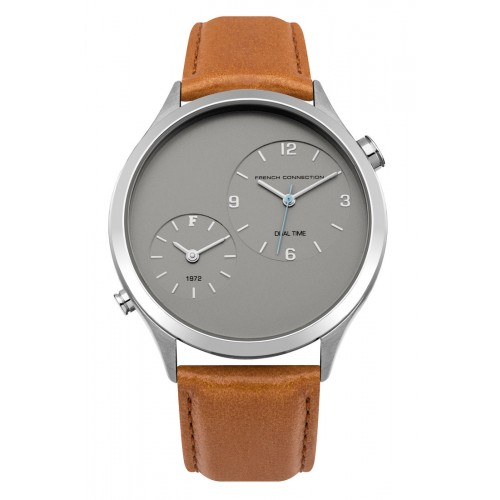 French Connection Mens Brown Leather Watch FC1284T