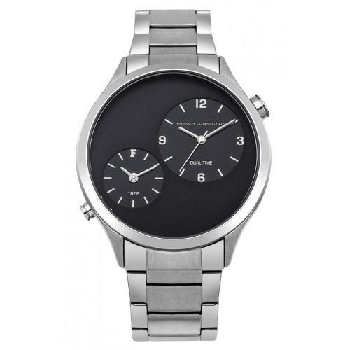 French Connection Mens Stainless Steel Silver Watch FC1284USM