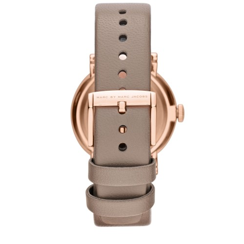 Marc Jacobs MBM1266 Baker Grey Leather Watch Strap