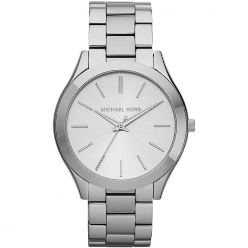 Michael Kors Ladies Silver Runway Watch MK3178