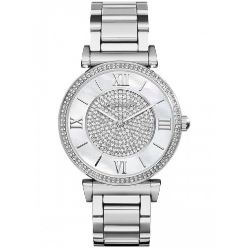 Michael Kors Ladies Silver Catlin Watch MK3355