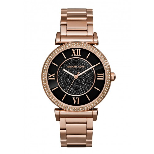Michael Kors Ladies Rose Gold Catlin Watch MK3356