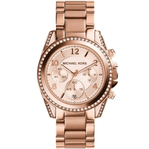 Michael Kors Ladies Rose Gold Blair Watch MK5263