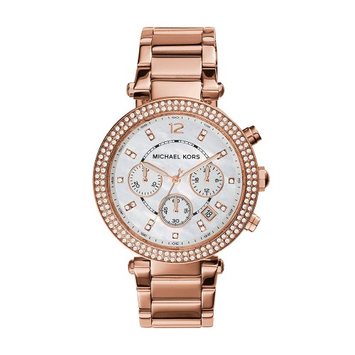 Michael Kors Ladies Parker Watch Rose Gold MK5491