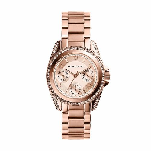 Michael Kors Ladies Rose Gold Mini Blair Watch MK5613