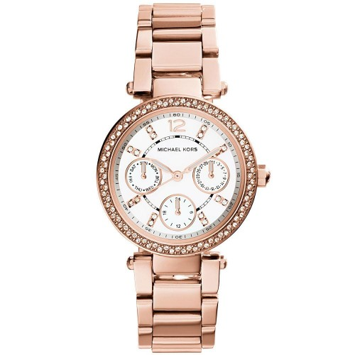Michael Kors Ladies Mini Parker Rose Gold Watch MK5616