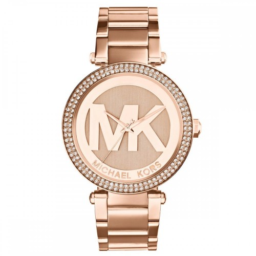 Michael Kors Ladies Rose Gold Paker Watch MK5865