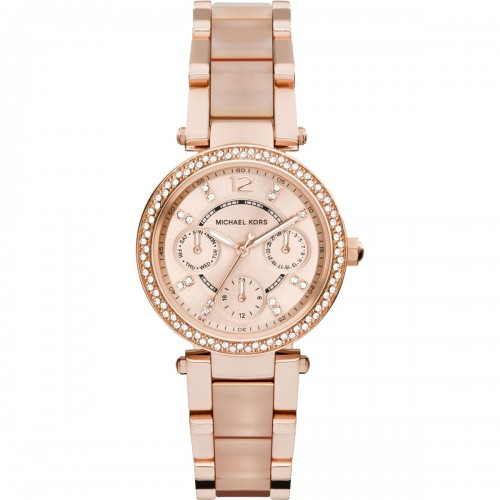 Michael Kors Ladies Rose Gold Mini Parker Watch MK6110