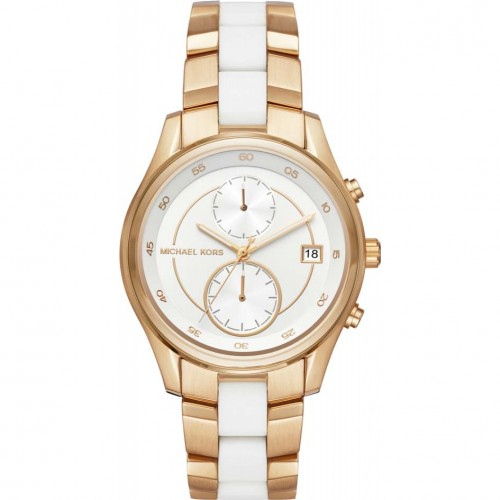 Michael Kors Ladies Gold & White Briar Watch MK6466