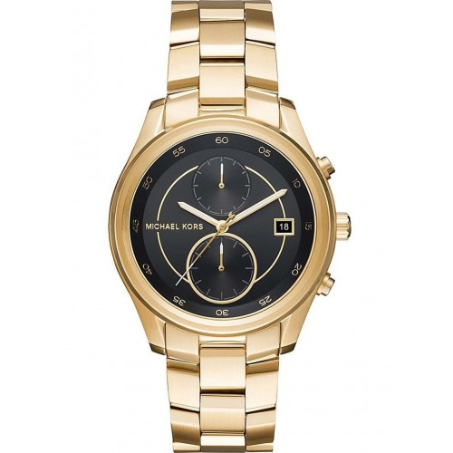 Michael Kors Ladies Gold Chronograph Watch MK6497