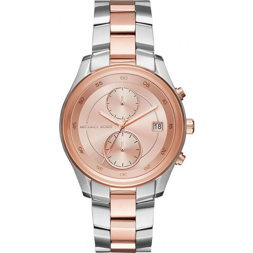 Michael Kors Ladies Silver & Rose Watch MK6498