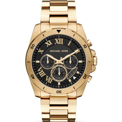Michael Kors Mens Chronograph Gold Brecken Watch MK8481