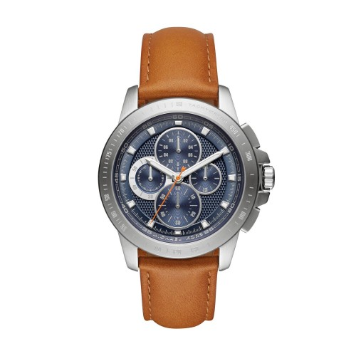 Michael Kors Mens Brown Leather Ryker Watch MK8518