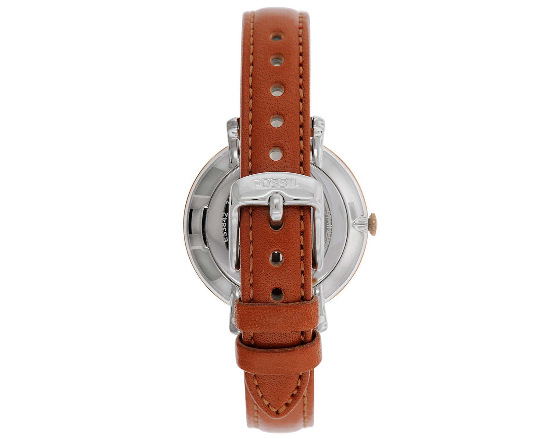 fossil brown leather jacqueline es3842